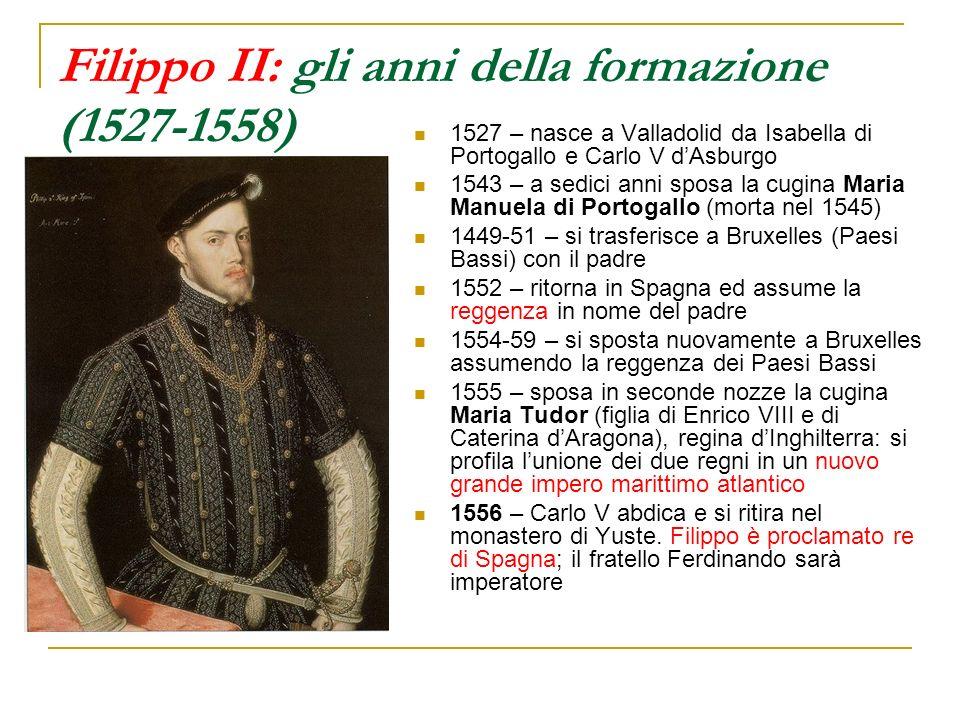 Filippo II: gli anni della formazione (1527-1558)