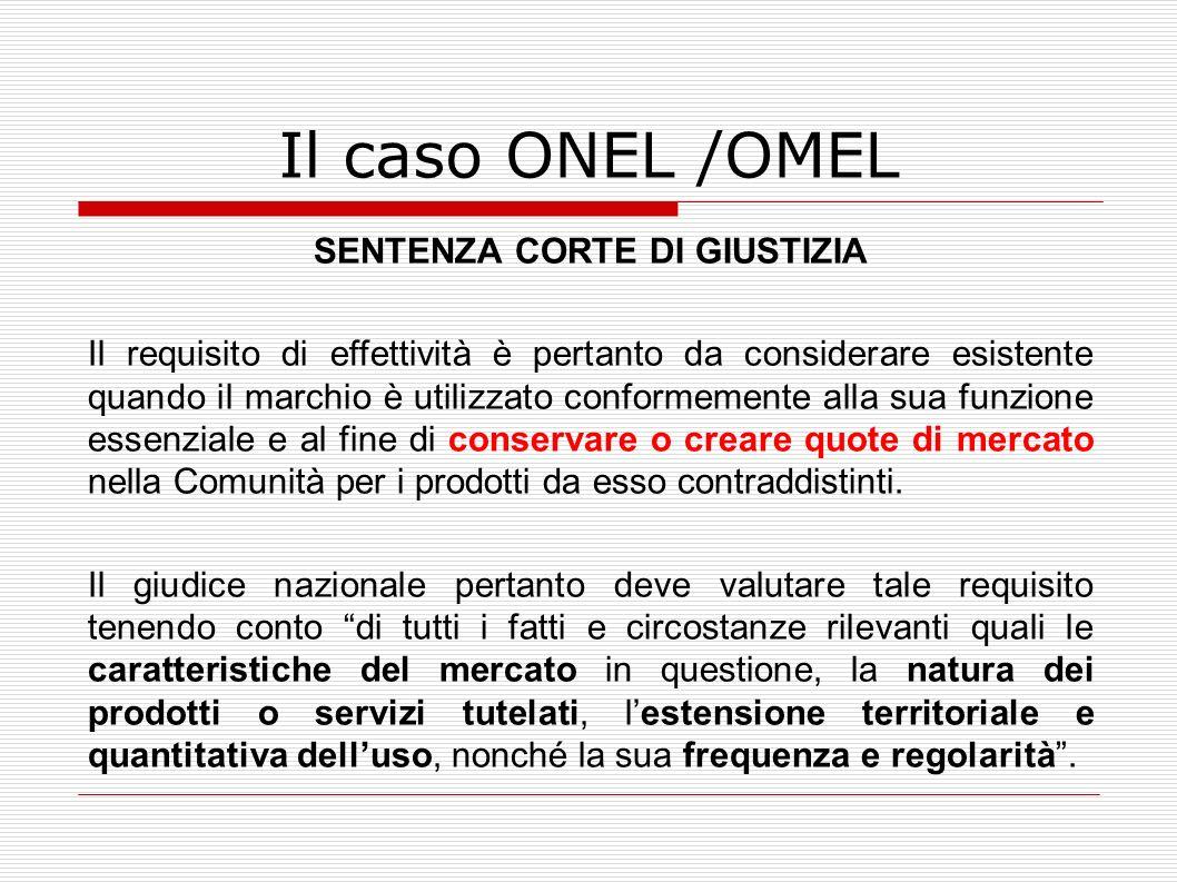 Il caso ONEL /OMEL