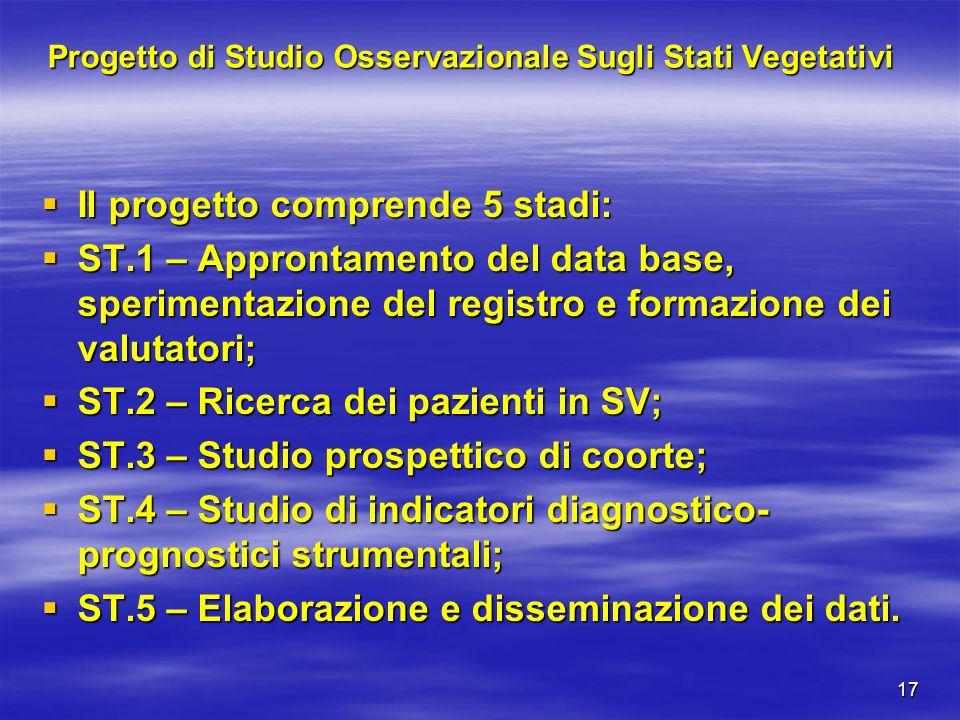 Progetto di Studio Osservazionale Sugli Stati Vegetativi
