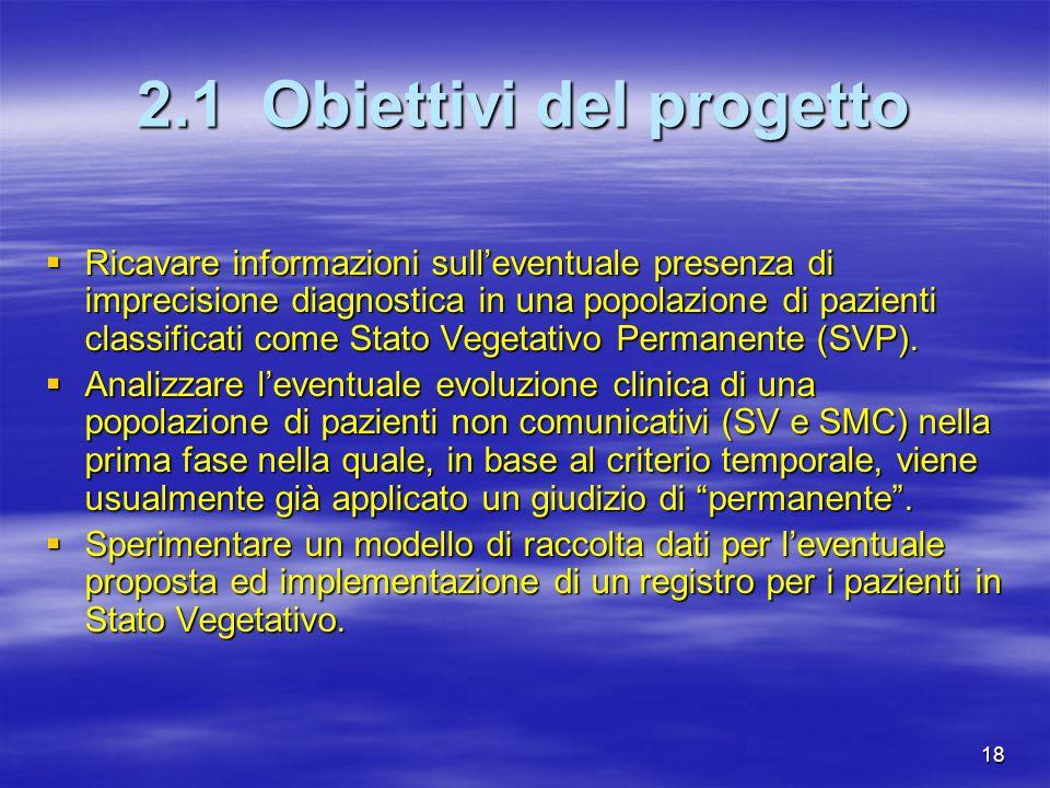 2.1 Obiettivi del progetto