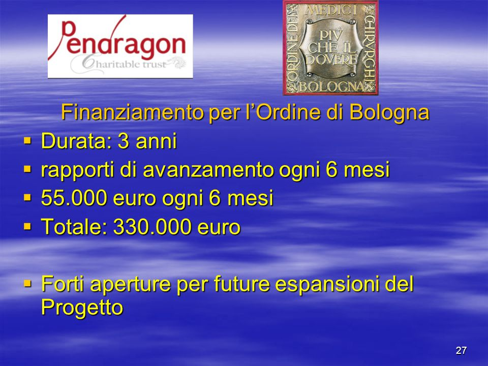 Finanziamento per l'Ordine di Bologna