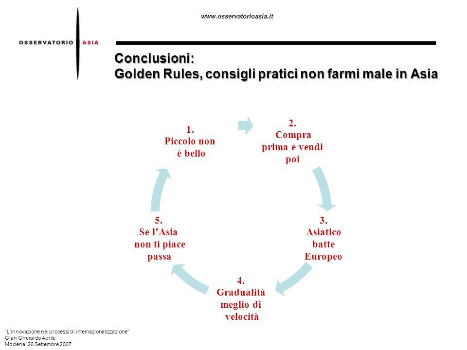 Conclusioni: Golden Rules, consigli pratici non farmi male in Asia