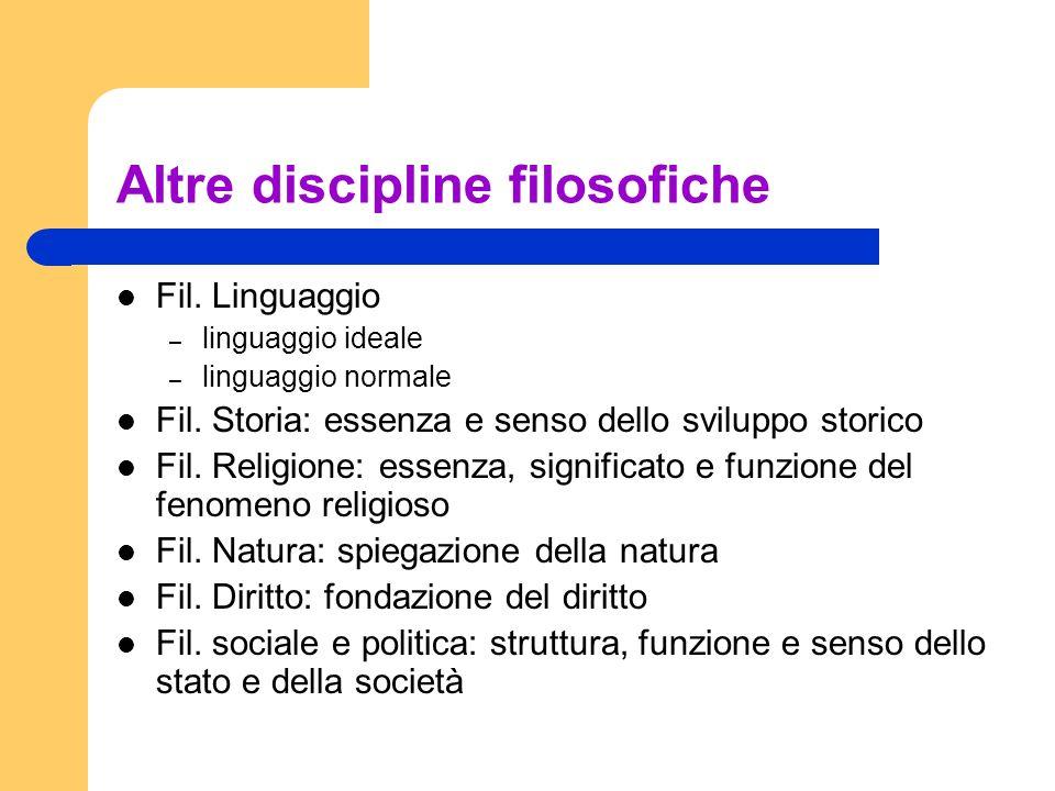 Altre discipline filosofiche