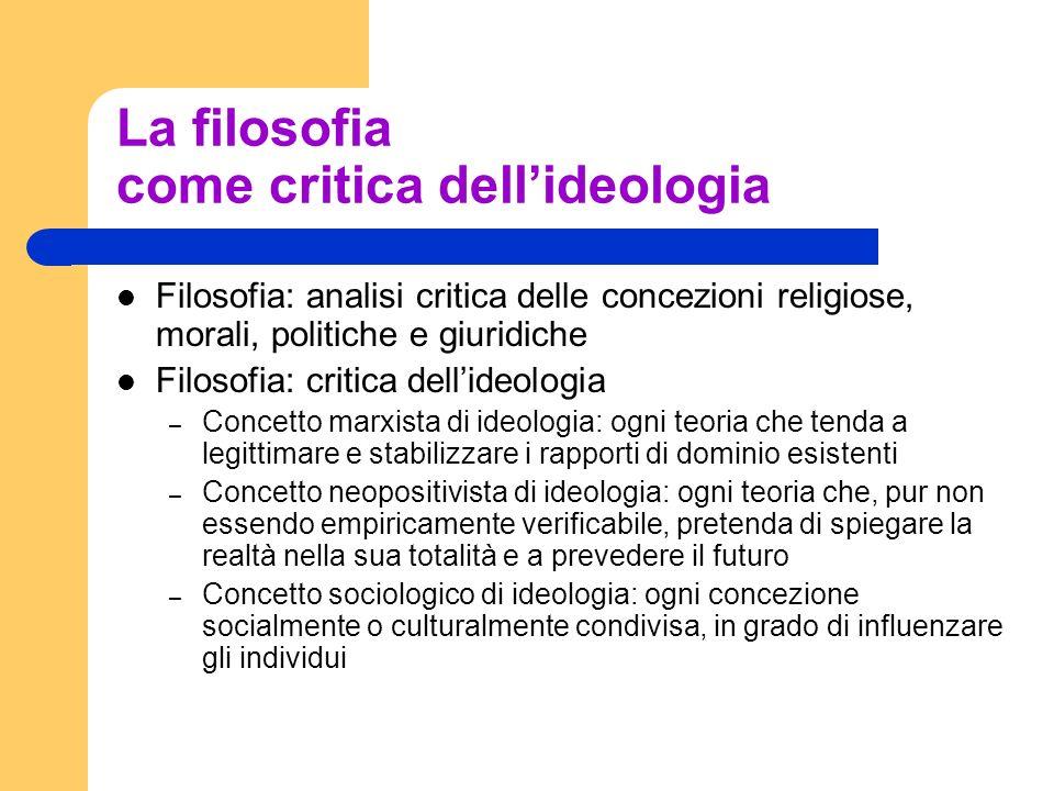 La filosofia come critica dell'ideologia