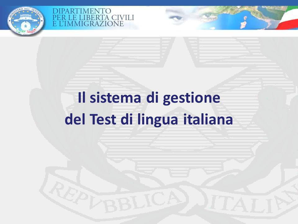 Il sistema di gestione del Test di lingua italiana
