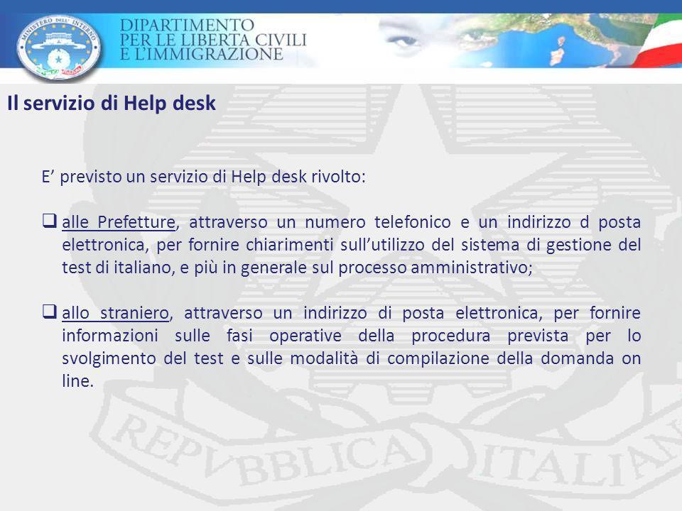 Il servizio di Help desk