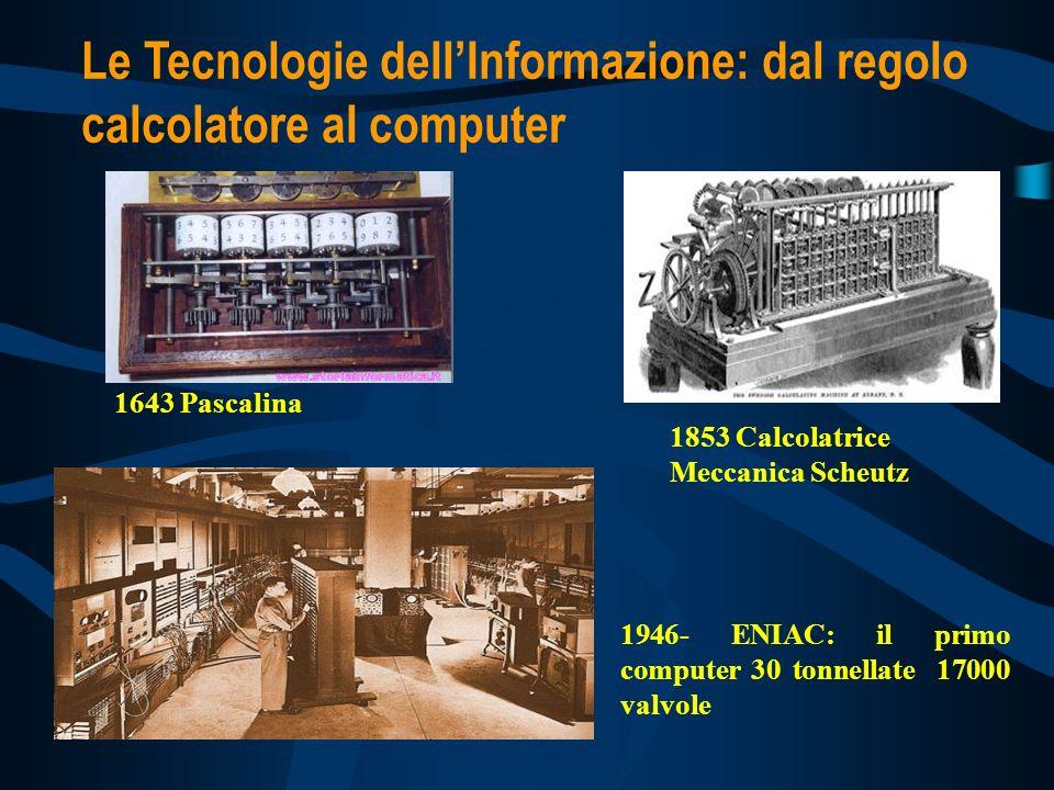 Le Tecnologie dell'Informazione: dal regolo calcolatore al computer
