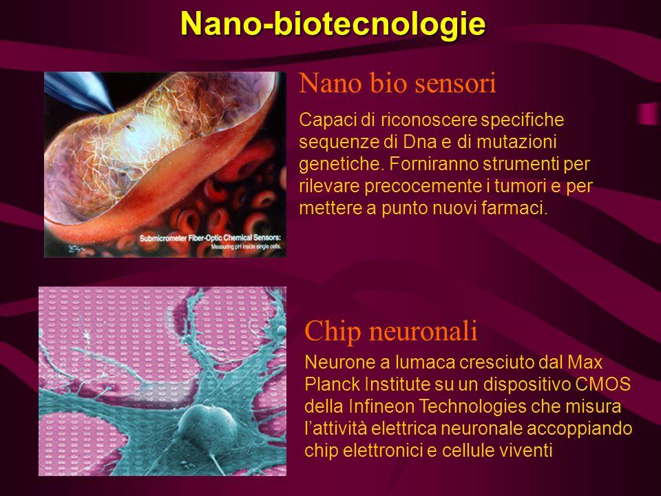 Nano-biotecnologie Nano bio sensori Chip neuronali
