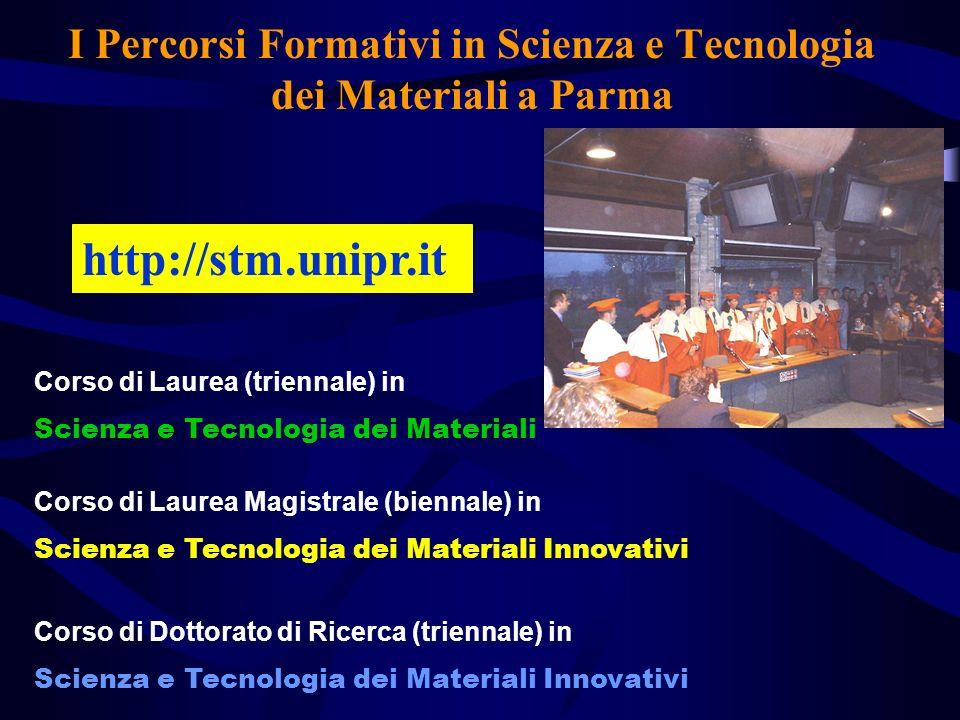 I Percorsi Formativi in Scienza e Tecnologia dei Materiali a Parma
