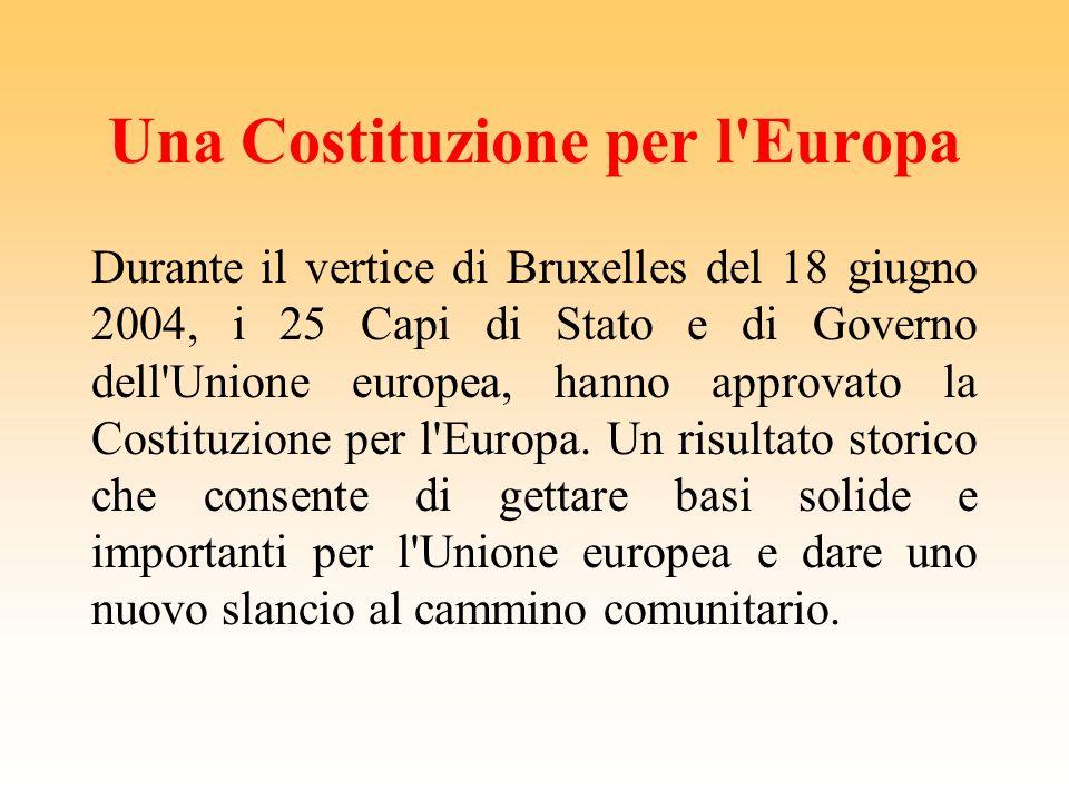 Una Costituzione per l Europa