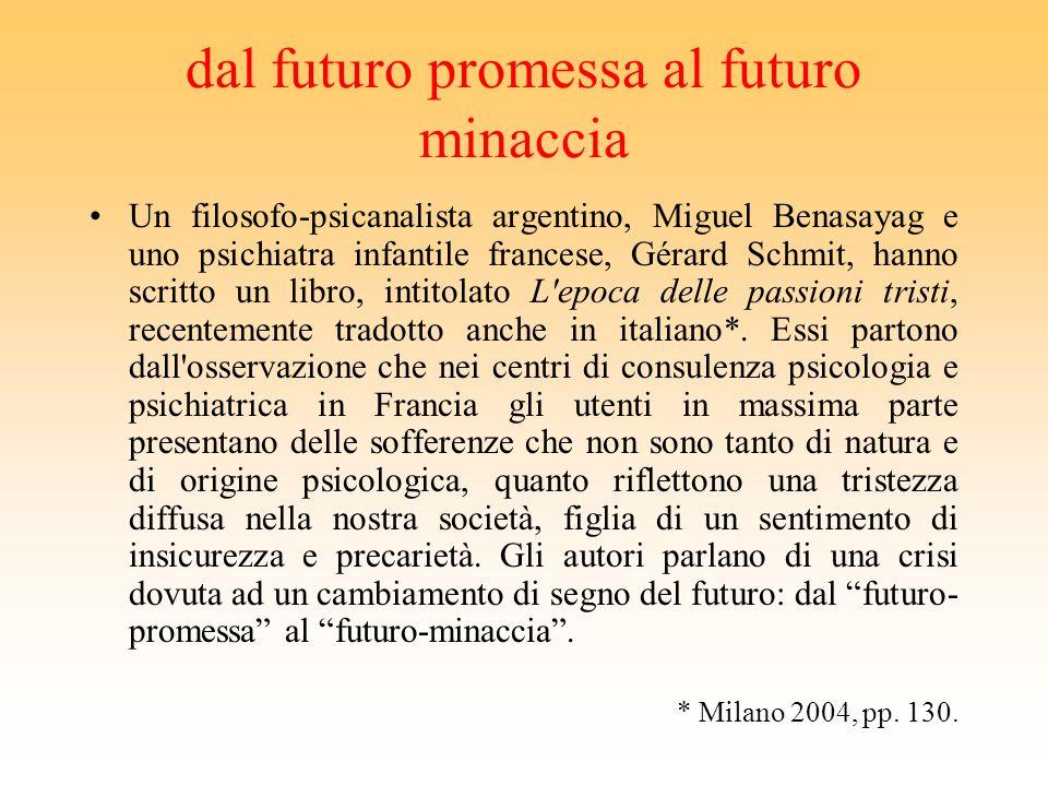dal futuro promessa al futuro minaccia
