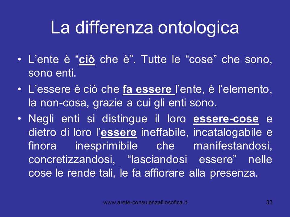 La differenza ontologica