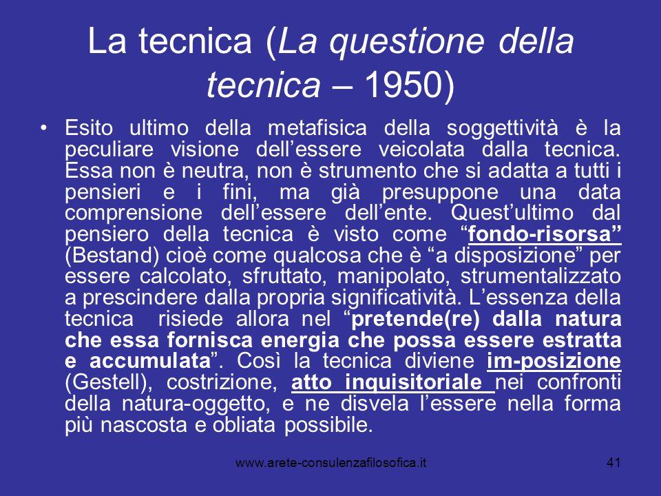 La tecnica (La questione della tecnica – 1950)