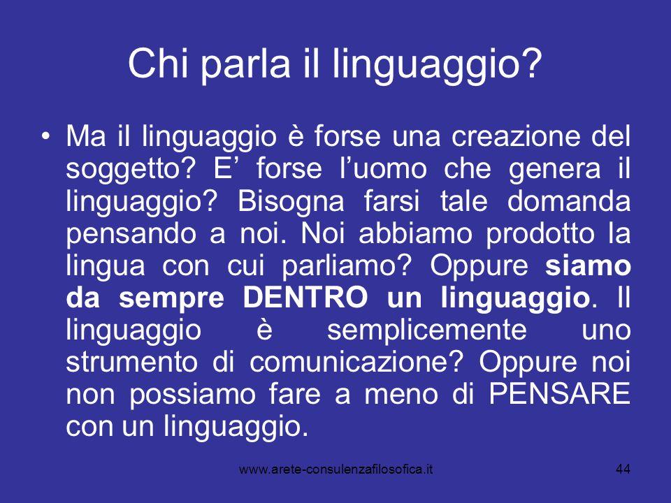 Chi parla il linguaggio
