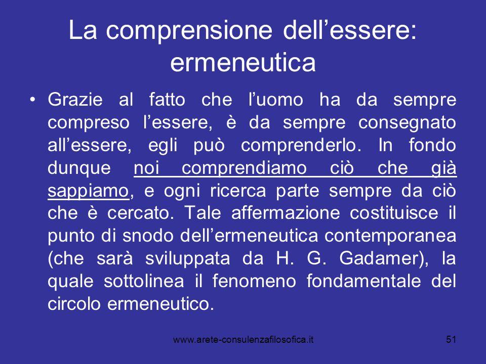 La comprensione dell'essere: ermeneutica