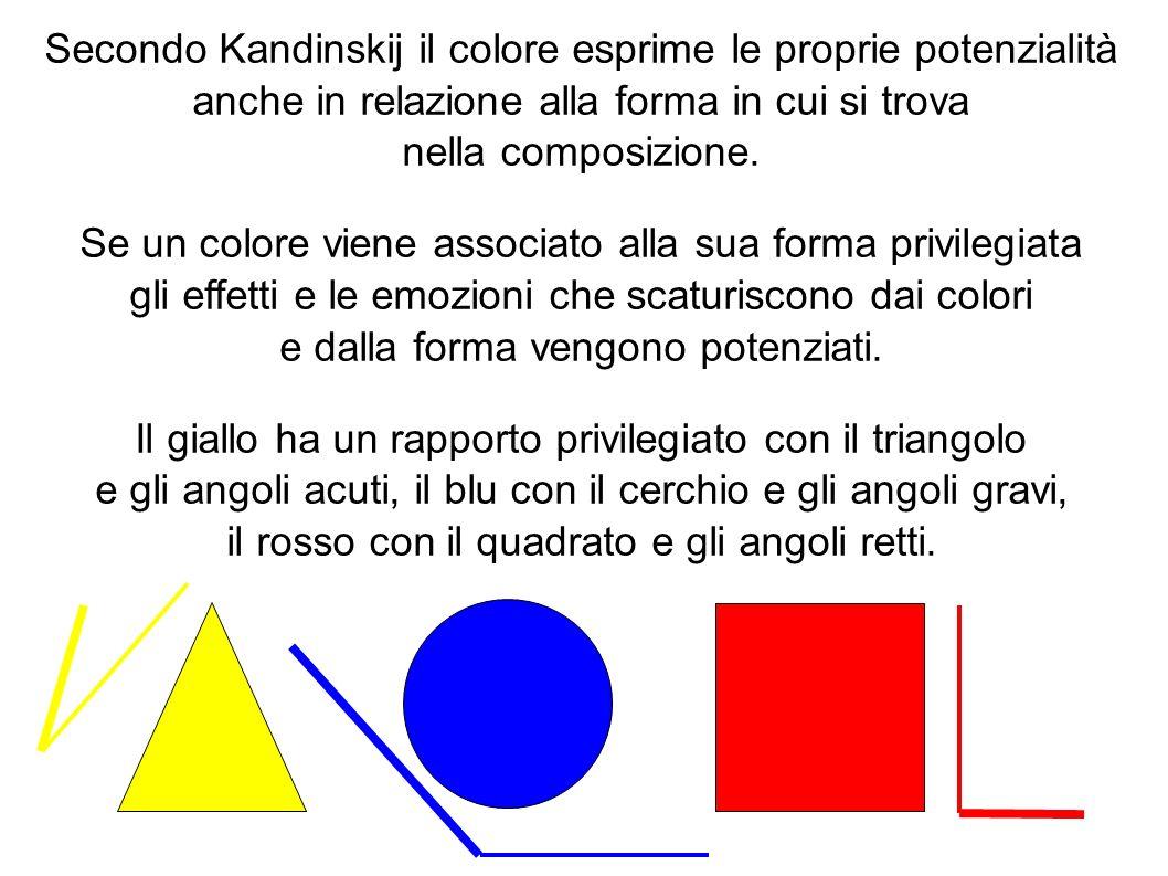 Secondo Kandinskij il colore esprime le proprie potenzialità