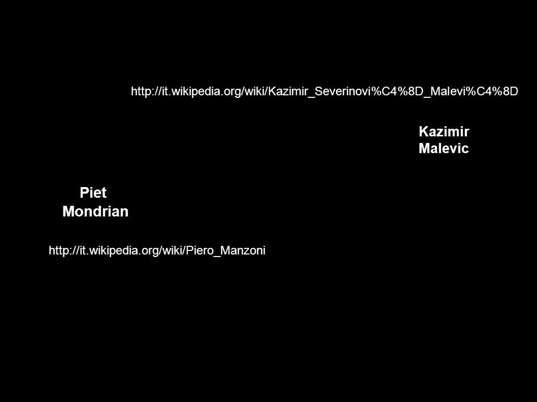 Piet Mondrian Kazimir Malevic