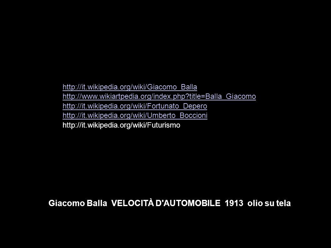 Giacomo Balla VELOCITÀ D AUTOMOBILE 1913 olio su tela