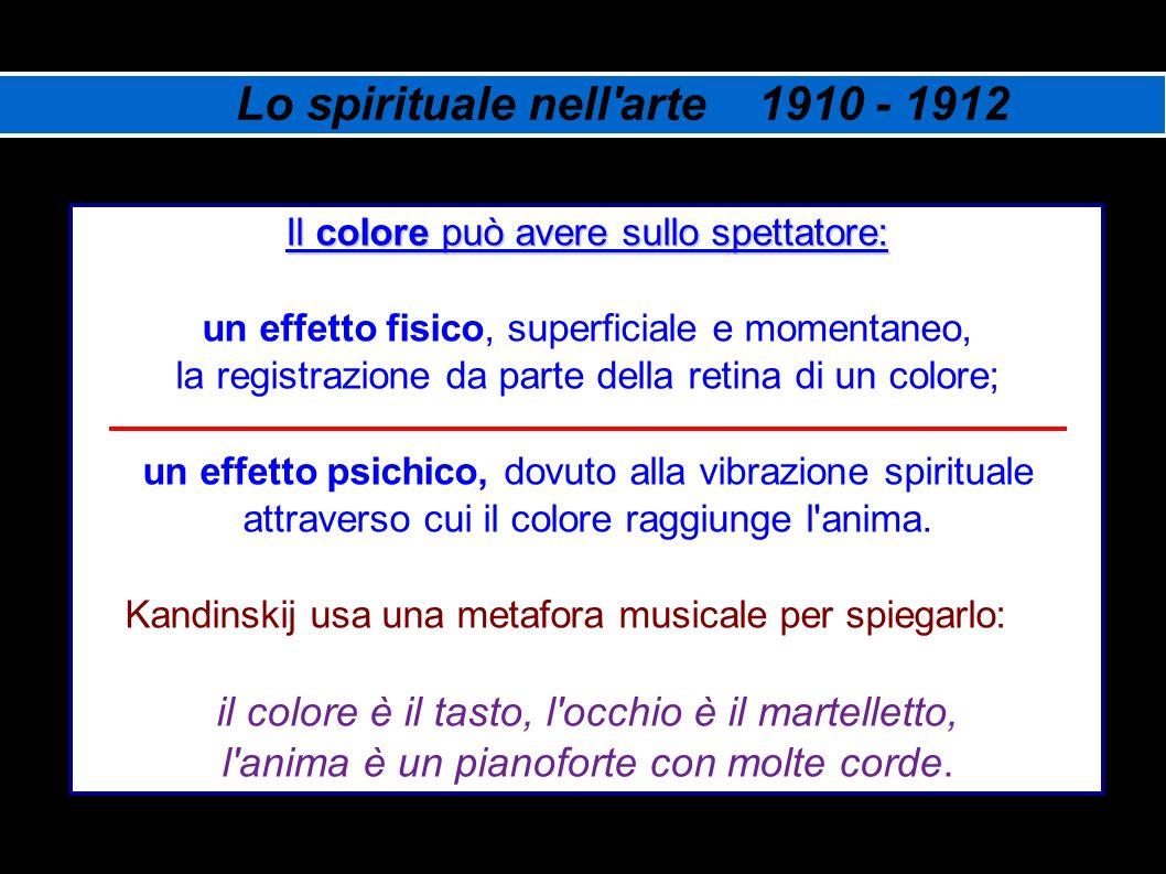 Lo spirituale nell arte 1910 - 1912