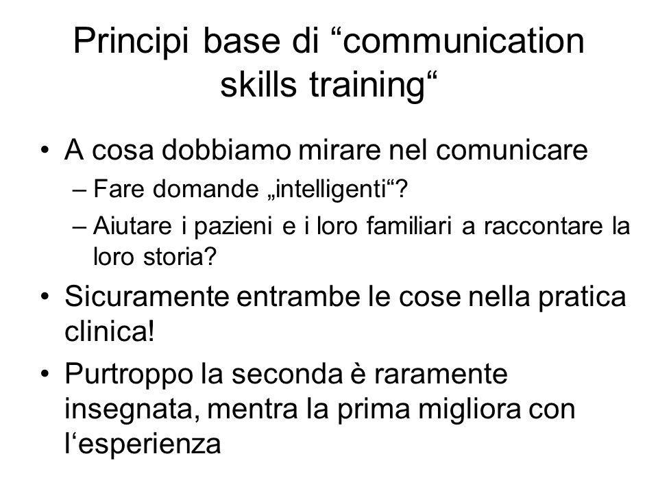 Principi base di communication skills training