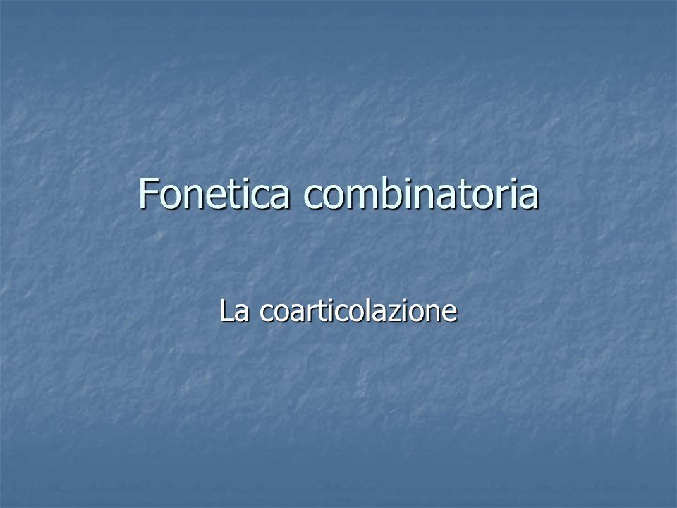 Fonetica combinatoria