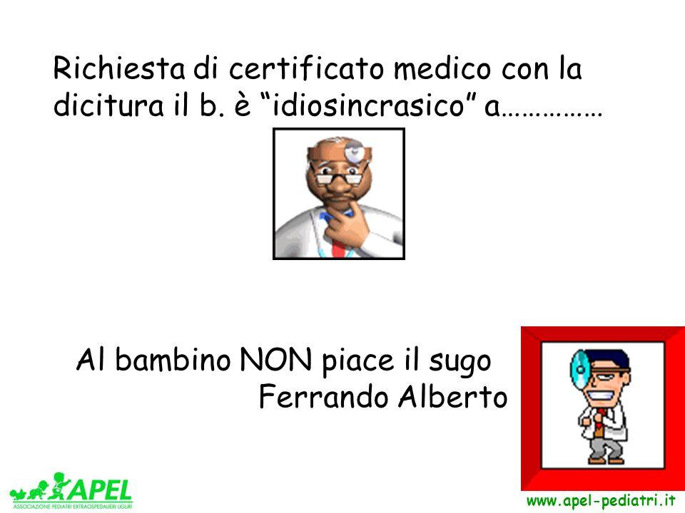 Richiesta di certificato medico con la