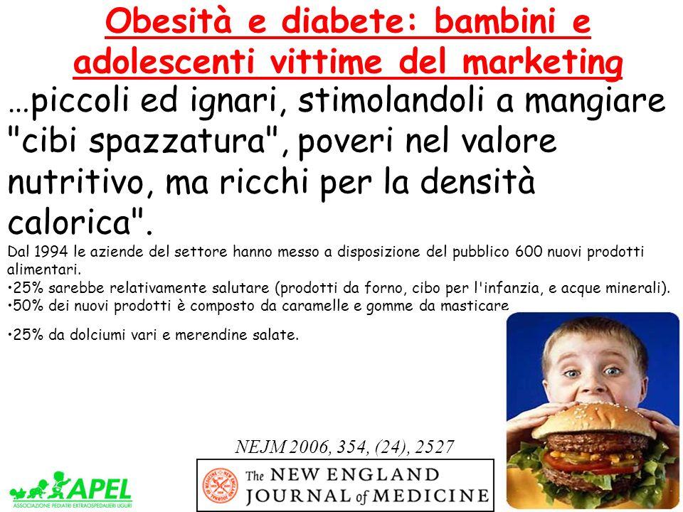 Obesità e diabete: bambini e adolescenti vittime del marketing