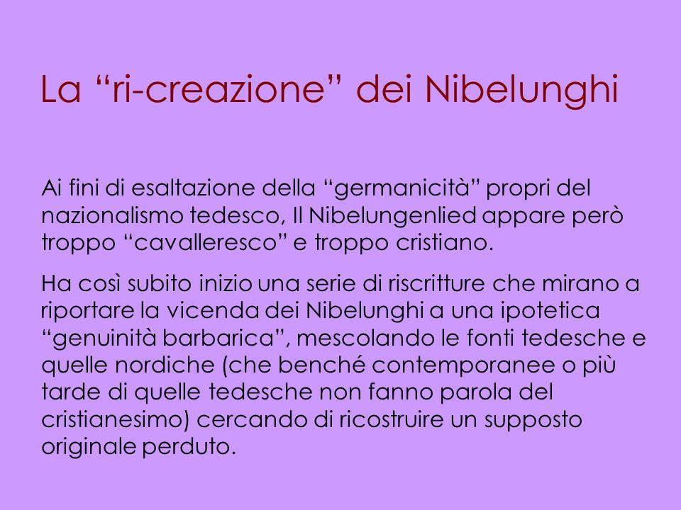 La ri-creazione dei Nibelunghi