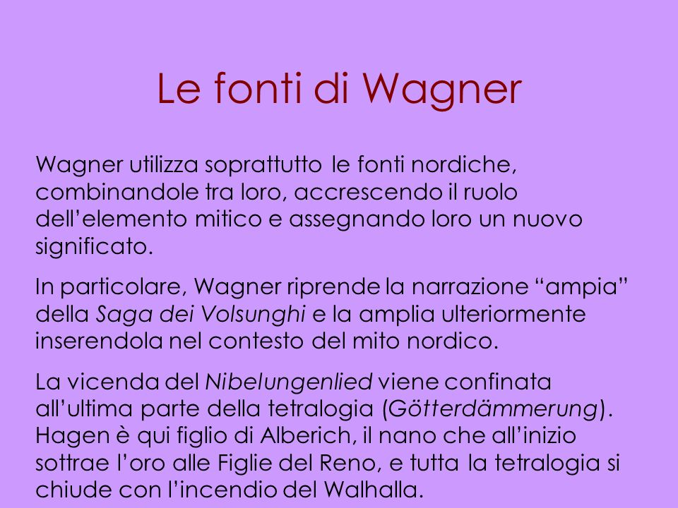 Le fonti di Wagner
