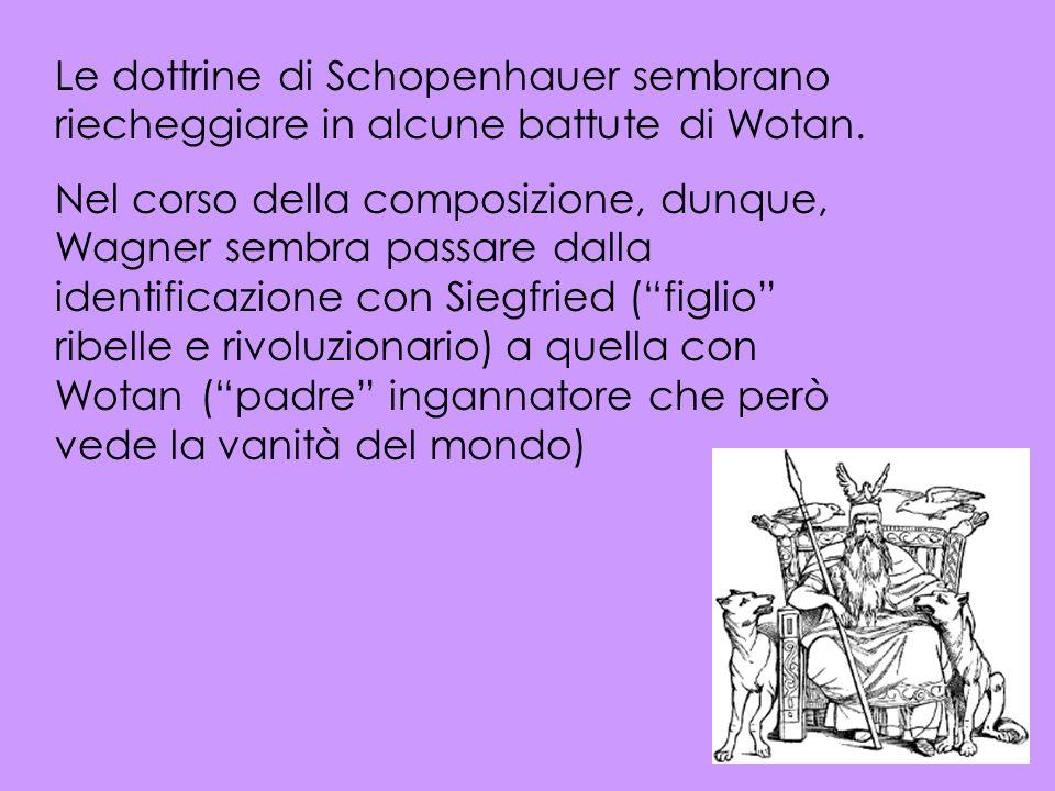 Le dottrine di Schopenhauer sembrano riecheggiare in alcune battute di Wotan.