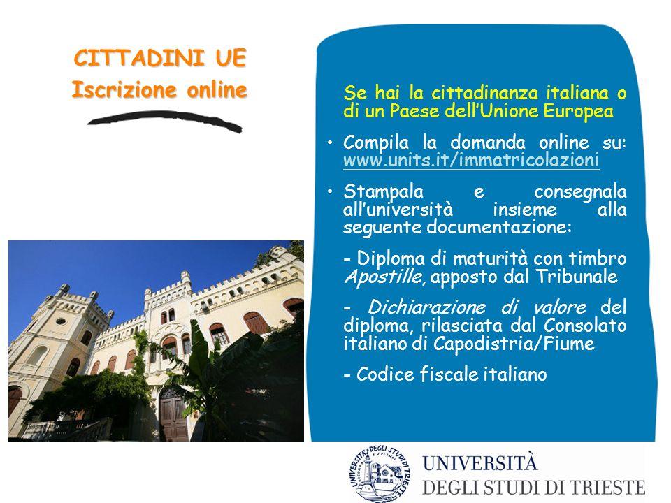 CITTADINI UE Iscrizione online