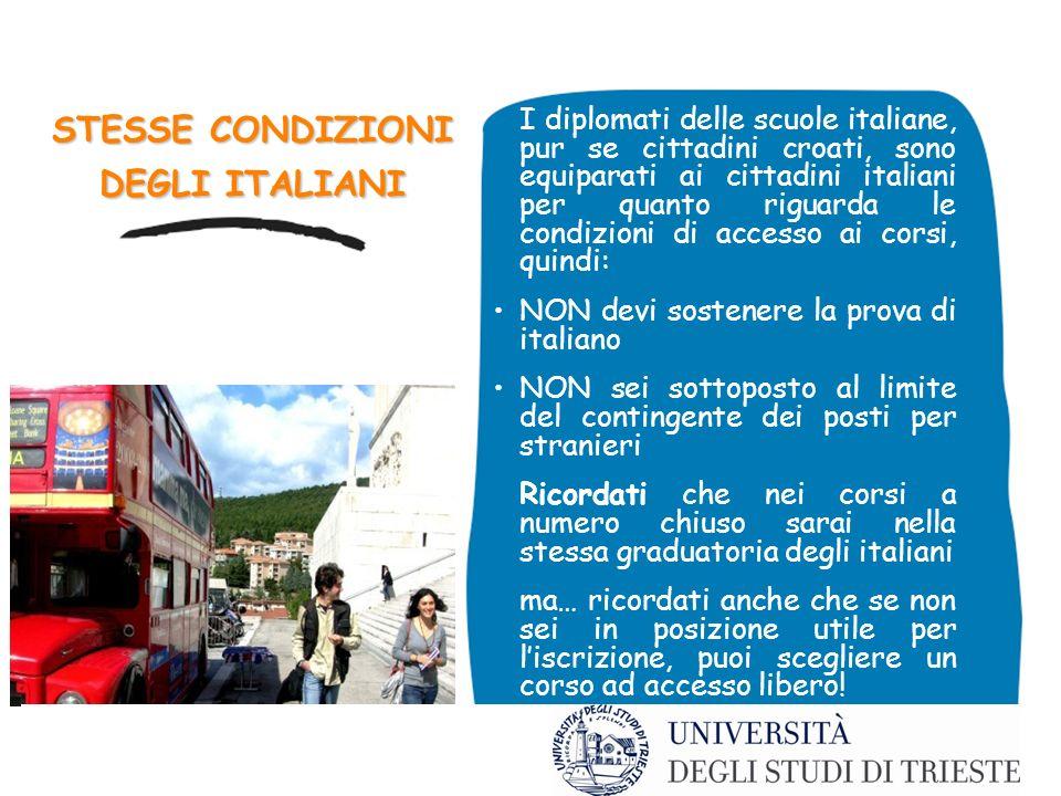 STESSE CONDIZIONI DEGLI ITALIANI