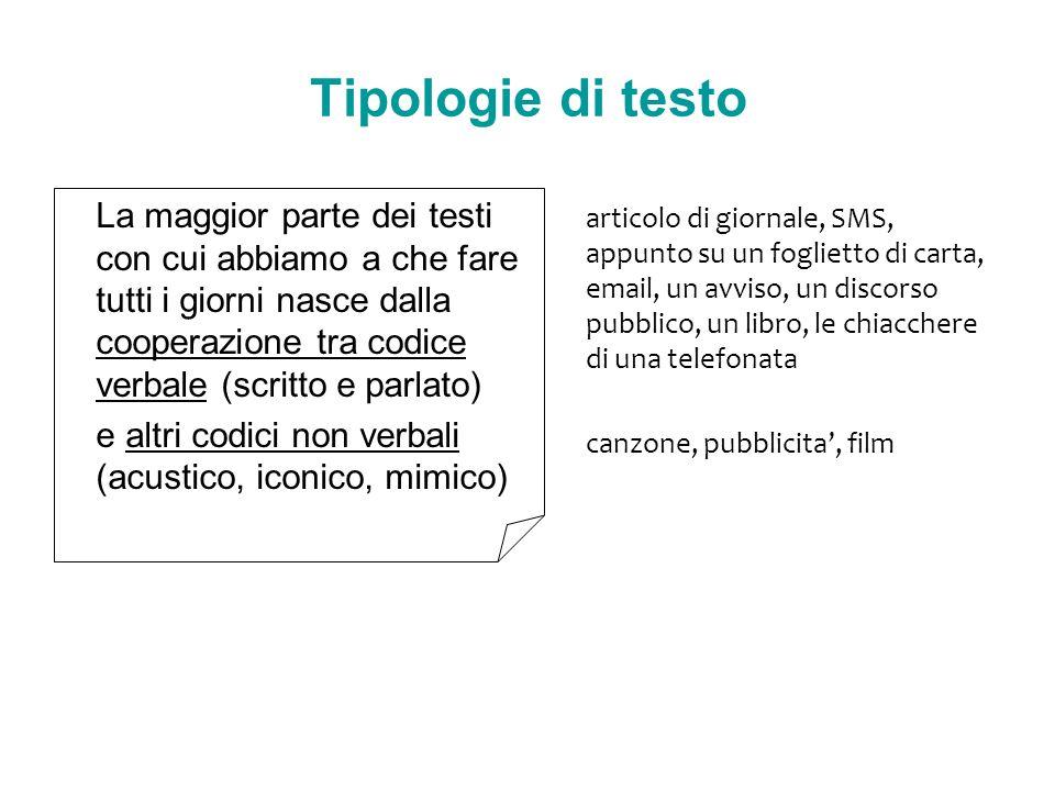 Tipologie di testo