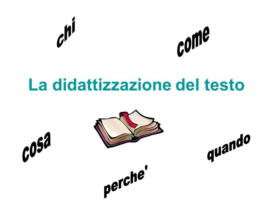La didattizzazione del testo