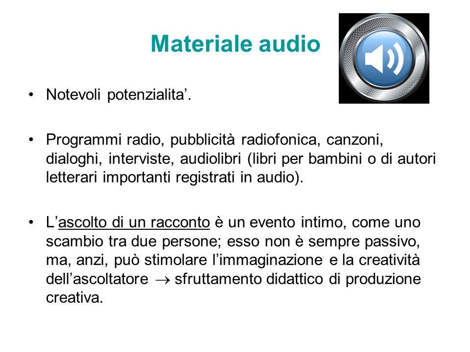 Materiale audio Notevoli potenzialita'.