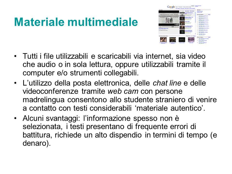 Materiale multimediale