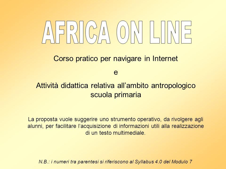 AFRICA ON LINE Corso pratico per navigare in Internet e