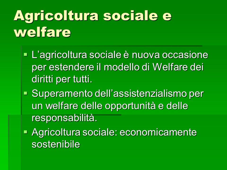 Agricoltura sociale e welfare