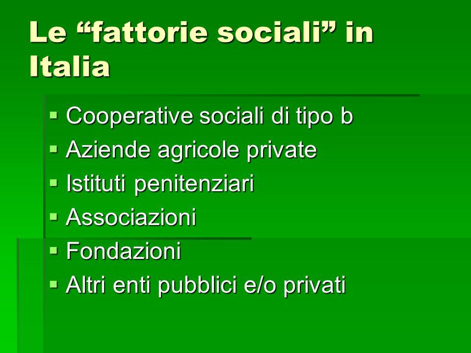 Le fattorie sociali in Italia