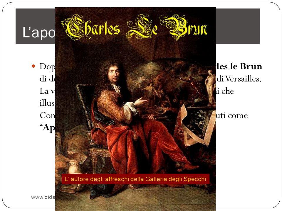 Re sole assolutismo e rappresentazione del potere nella for Charles che arredo la reggia di versailles