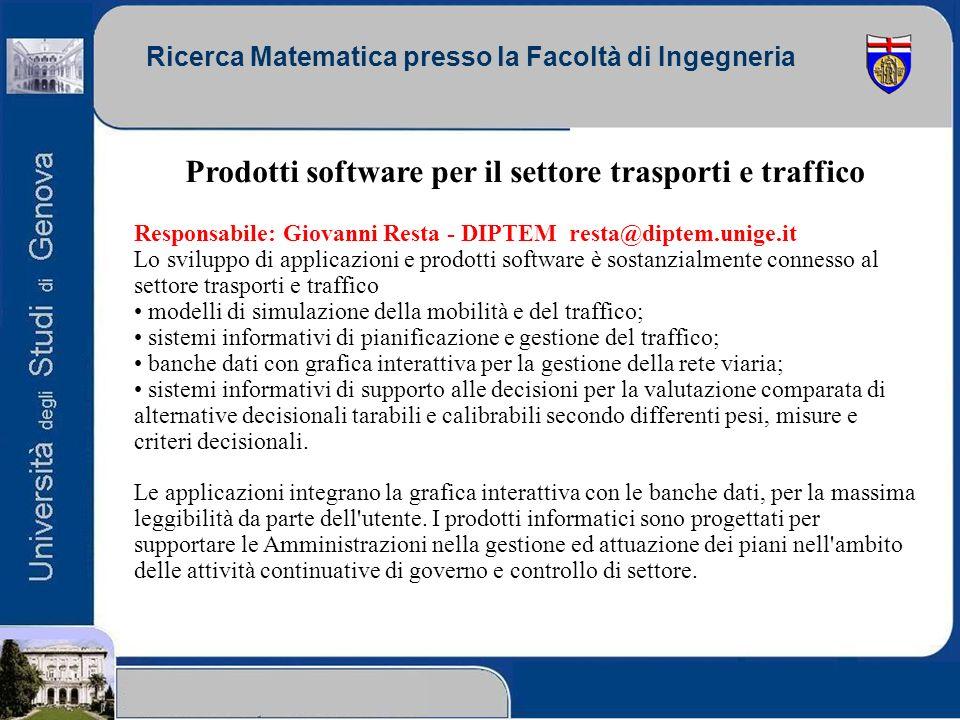 Prodotti software per il settore trasporti e traffico