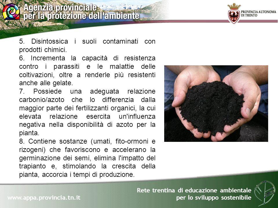 5. Disintossica i suoli contaminati con prodotti chimici.