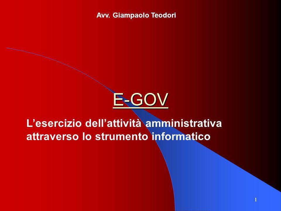 Avv. Giampaolo Teodori E-GOV.