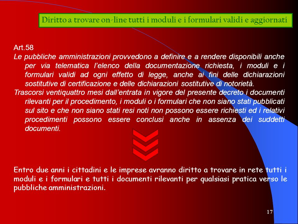 Diritto a trovare on-line tutti i moduli e i formulari validi e aggiornati