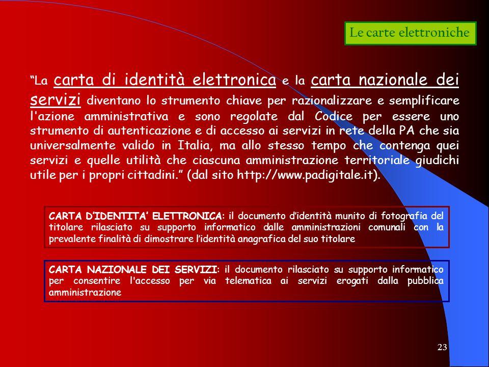 Le carte elettroniche