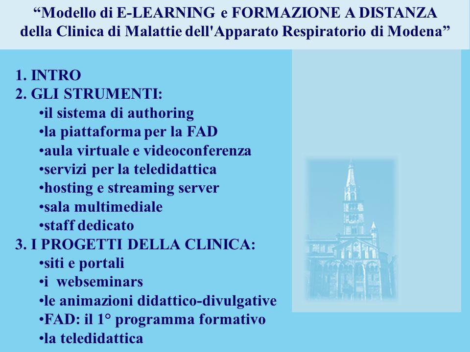 Modello di E-LEARNING e FORMAZIONE A DISTANZA