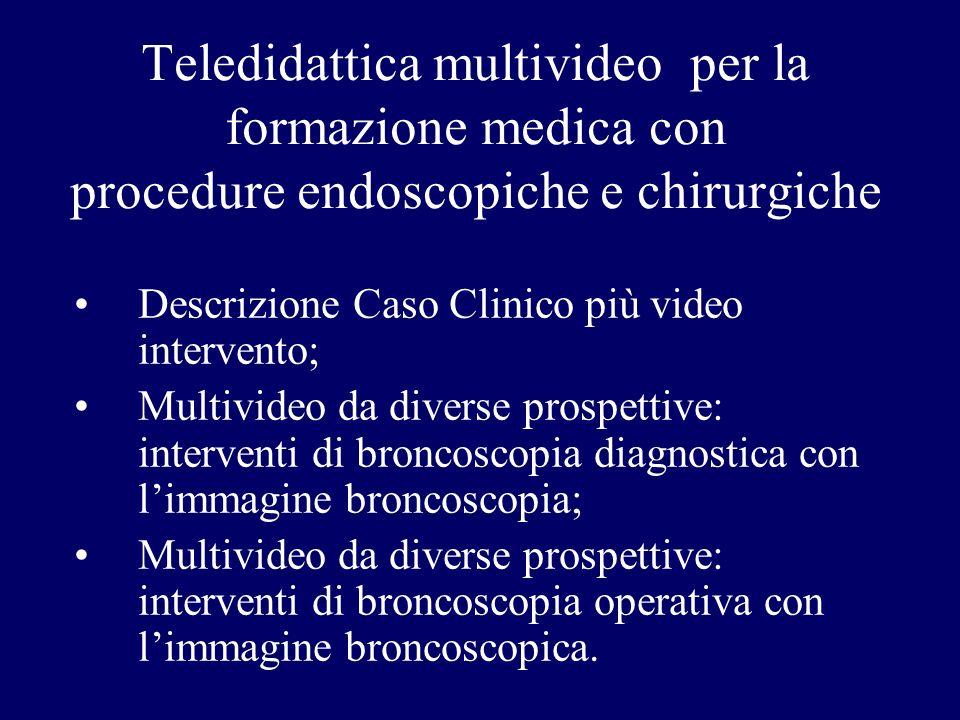 Teledidattica multivideo per la formazione medica con procedure endoscopiche e chirurgiche