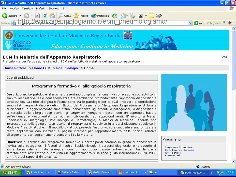 http://ecm.pneumologiamo.it/ecm_pneumologiamo/ The resources can be orginezed in a Learning Management System.