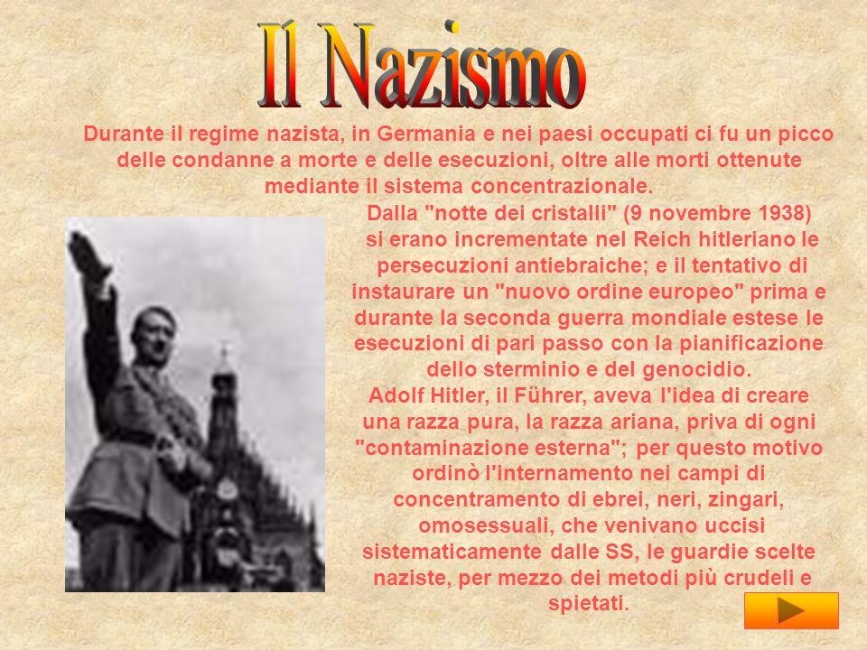 Il Nazismo Durante il regime nazista, in Germania e nei paesi occupati ci fu un picco.