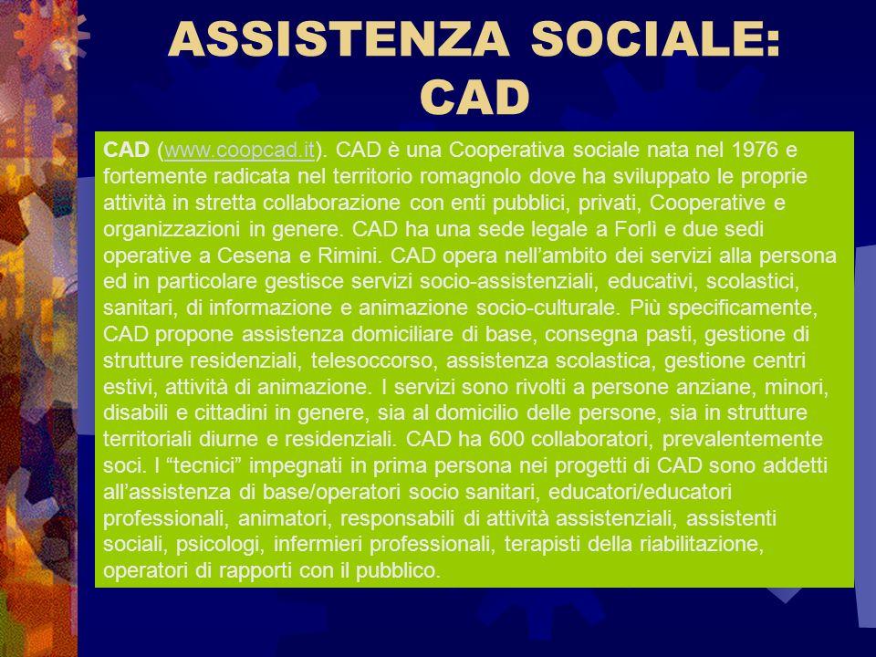ASSISTENZA SOCIALE: CAD